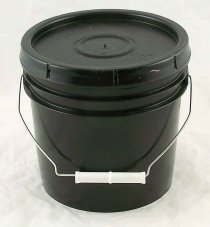 Black Gallon Pail with Lid - 1 US Gal