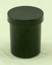 Black Poly Jar with screw lid - 4 oz container