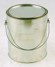 Metal Gallon Can lined with lid - 1 US Gal