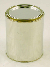 Metal Quart Can lined with lid - 1 US Quart