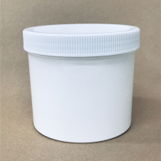 White Plastic 32 oz Jar with Screw on Lid