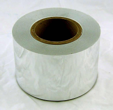 "4"" Silver Mylar Tape 1.5 mil 300 ft roll"